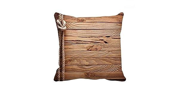 Amazon.com: DIYthinker - Funda de cojín de madera con diseño ...
