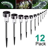 AdorioVix 12 Pack Solar Garden Lights Outdoor, Solar Powered Pathway Lights, Outdoor Landscape Light...