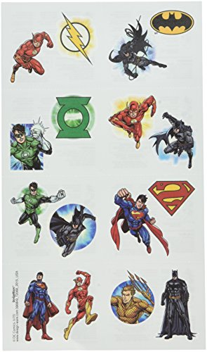 Justice League Tattoos, Party Favor -