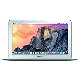 Apple MacBook Air MJVM2LL/A 11.6 Inch Laptop (Intel Core i5 Dual-Core 1.6GHz up to 2.7GHz, 4GB RAM, 128GB SSD, Wi-Fi…