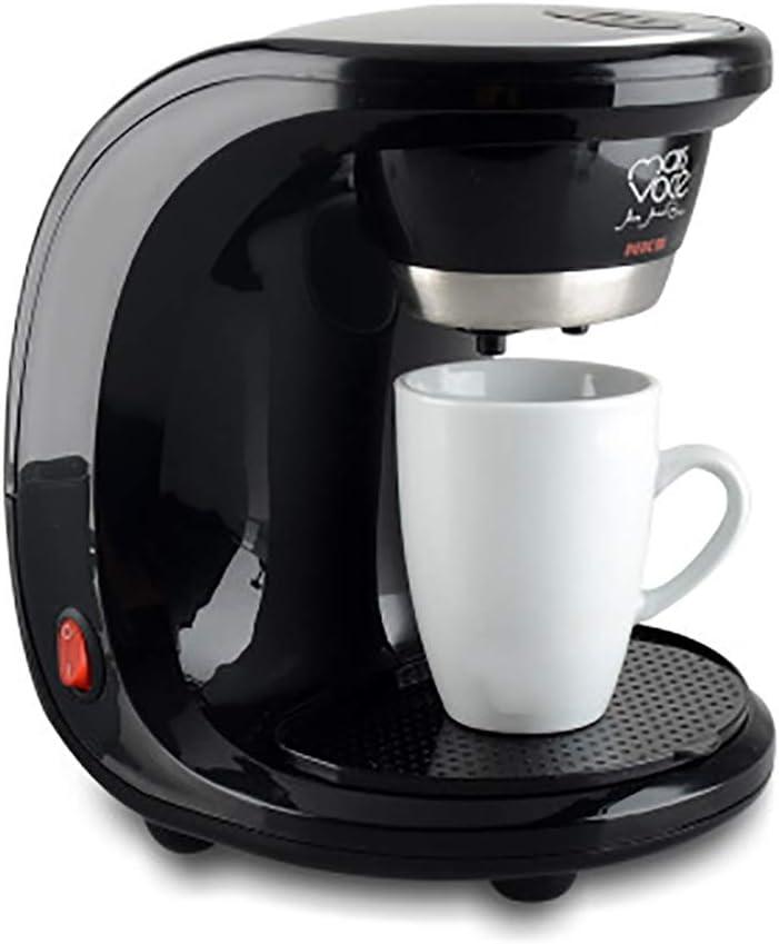 Cafetera de goteo pequeña de vapor/cafetera de aislamiento automático/taza doble simple/fácil de limpiar/hogar/estudio-black: Amazon.es: Hogar