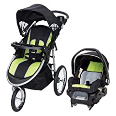 Explore the outdoors in style together with your little one in the Baby Trend Pathway 35 Travel System in Optic Green. The jogger is designed for optimal safety and convenience with features such as a 5-point safety harness with harness cover...