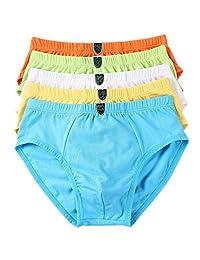 Boys' Briefs Cotton Underwear Comfortable Shorts 5-Pack