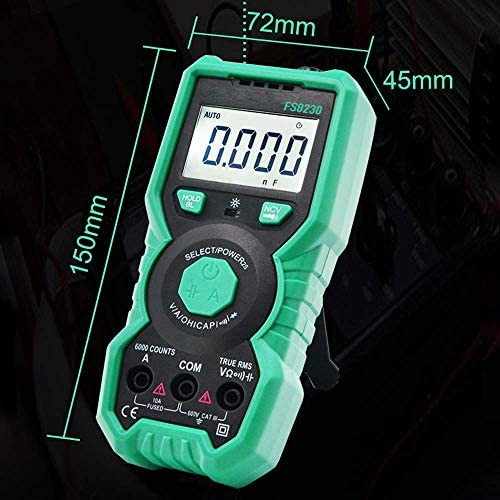 ZYL-YL Digital High-precision Multimeter True RMS AC/DC Resistance Capacitor NCV Multimeter Intelligent Auto Range