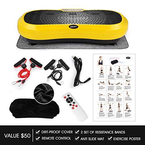 GENKI Fitness Vibration Platform Workout Machine Whole Full Body Shape Exercise Training Power Plate (Yellow) by GENKI (Image #7)