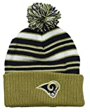 St. Louis Rams NFL Little Boys Basic Cuffless Pom Pom Knit Beanie, Gold