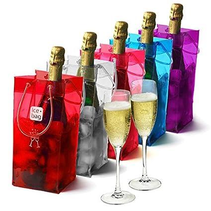 Bolsa de hielo enfriador para botellas de vino con 5 x Bolsas de Ice - enfriador