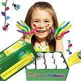 Happlee 12 Colors Finger Paint for Kids Washable Paint Set for Toddlers Non-Toxic Kid's Fingerpaints Supplies 12x30ml(1.02 fl.oz)