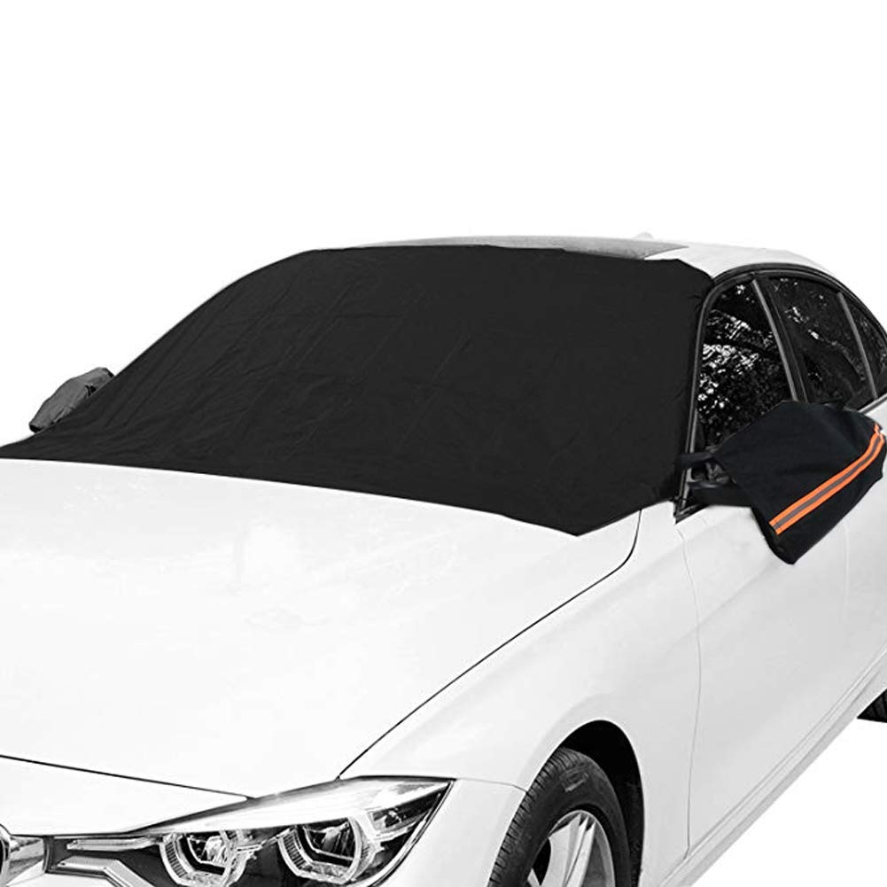 Orgrimmar Magnetic Car Windshield Snow Cover Antifreeze with Ears Snow, Ice, Frost, UV Full Protection