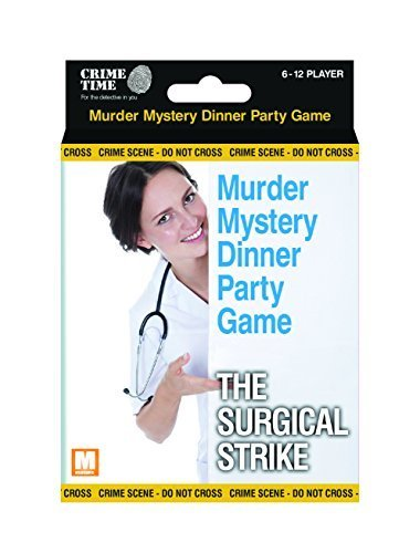 Downloadable Murder Mystery Games (The Surgical Strike - Murder mystery gift box - downloadable game for 6,8,10 or 12 players)