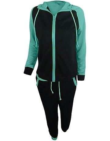 Willsa Fashion Women Casual Splice Zipper Long Sleeve Pullover Sport Tops+Long Pants Set
