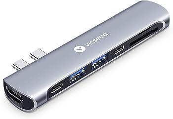 Vicseed Adapter Dongle Thunderbolt 3 Doc Fit Dual USB C Hub