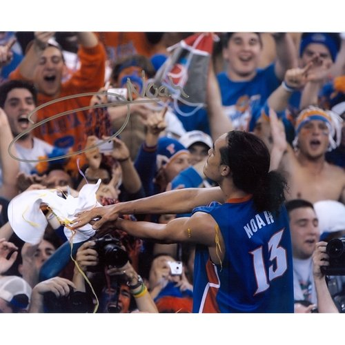 06 Final Four (Joakim Noah Autographed Florida Gators (06 Final Four Gator Chomp) 8x10 Photo)
