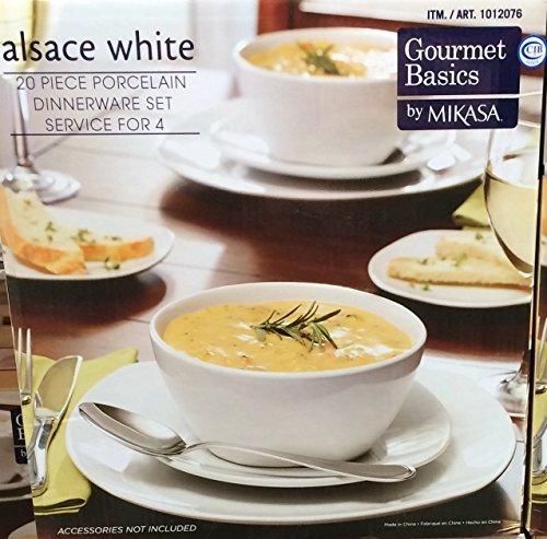 Mikasa Alsace Porcelain 20 Piece Dinnerware Set (Alsace Set)
