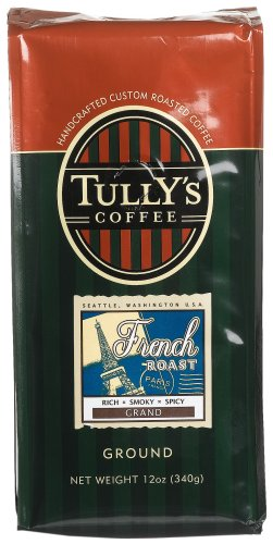 Tully's Coffee French Roast, Ground , 12 Ounce Bags (Pack of 3)