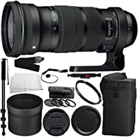 Sigma 120-300mm f/2.8 DG OS HSM Lens for Nikon Bundle Includes Manufacturer Accessories + 72 inch Monopod with Quick Release + MORE (Certified Refurbished)