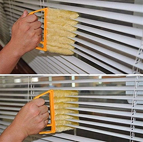 MyEasyShopping-Portable-Creative-Microfibre-Venetian-Blind-Blade-Magnetic-Window-Cleaner-Cleaning-Brush-Diagnostic-Tool-Yellow