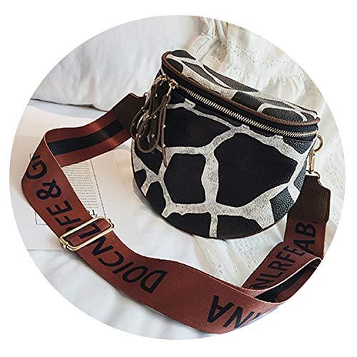 Leopard print women's pu leather bag handbags messenger bags women shoulder bag,Giraffe pattern,18x10x20cm