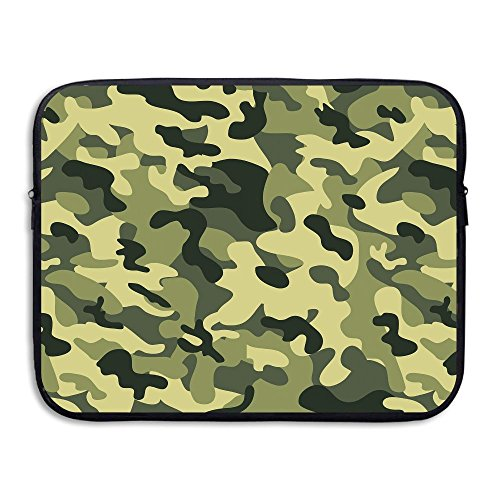 Fashion Laptop Sleeve Case Green Camo Camouflage Art Computer Storage Bag Portable Protective Bag Briefcase Sleeve Bags Cover For Macbook/Ultrabook/Notebook/Laptop (Camo Netbook Sleeve Green)