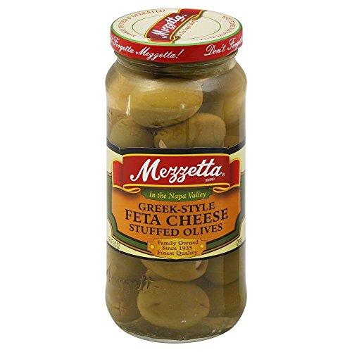 (Mezzetta Greek-Style Feta Cheese Stuffed Olives, 9.5 OZ (Pack of 6))
