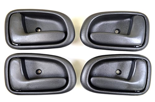 PT Auto Warehouse TO-2522G-QP - Inside Interior Inner Door Handle, Gray - 2 Left, 2 Right