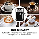 Klarstein-BellaVita-Espresso-Macchina-da-Caff-Macchina-da-Caff-Espresso-20-Bar-1575-W-Capacit-900-ml-Controllo-One-Touch-Ugello-per-Vapore-Scaldatazze-Acciaio-Argento