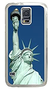 Samsung Galaxy S5 Statue Of Liberty Front PC Custom Samsung Galaxy S5 Case Cover Transparent