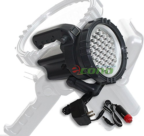 36 Led Spotlight Flashlight Cordless Rechargeable Ac Dc Spot Light (12v 4ah Ac Battery)