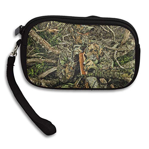 WOWRIGHT Hunting Camo Forest Hide Party Coin Purse Wallet Wristlet Pouch Coin Wallet Zipper Change Holder (Laundry Hide Holder)