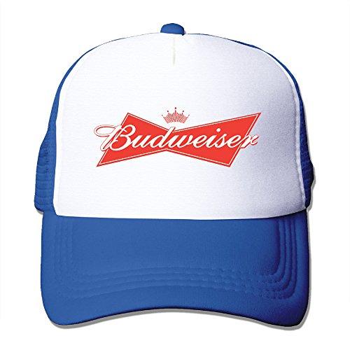 Adult Budweiser Logo Adjustable Mesh Hat Trucker Baseball Cap RoyalBlue