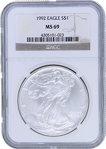 1992 American Silver Eagle $1 MS69 NGC