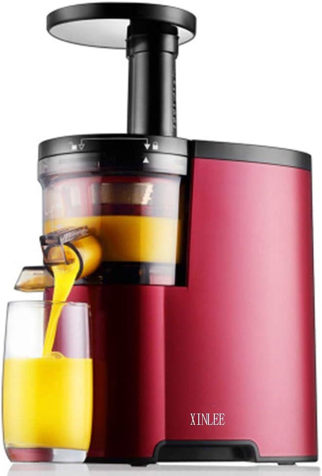 Exprimidor Exprimidor xinlee para frutas y verduras, exprimidor para la rotación de frutas y verduras entiers y gran licuadora a tubo de alimentación