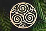 Triskelion Celtic Knot, Triskele Knot Wooden Wall