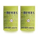 Mrs. Meyers Dryer Sheets Lmn Vrbna 80 Sheets, 2 pack
