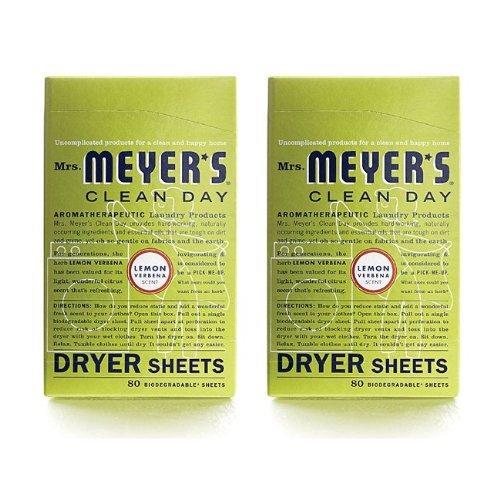 Lavender Dryer (Mrs. Meyers Dryer Sheets Lmn Vrbna 80 Sheets, 2 pack)