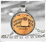 Personalized Ouija Board Glass Cabochon Tibet silver pendant chain necklace