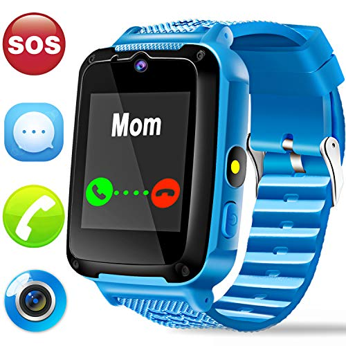 Kids Phone Smart Watch - Kids Smartwatch for Boys Girls with Mobile Phone SOS Camera Game Sport Outdoor Children Digtal Wrist Watch for Holiday Birthday Gifts