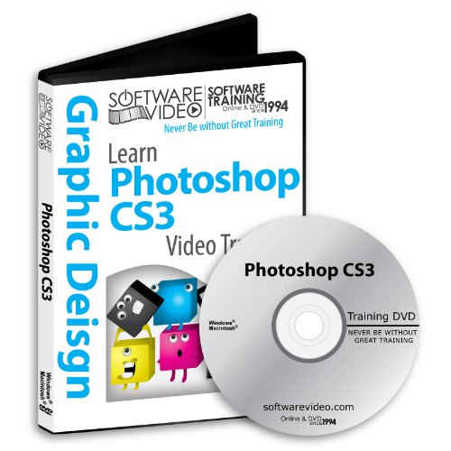 Software Video Learn Adobe Photoshop CS3 Training DVD Christmas Holiday Sale 60% Off training video tutorials DVD Over 8 Hours of Video Tutorials Training (Adobe Photoshop Cs3 Software)