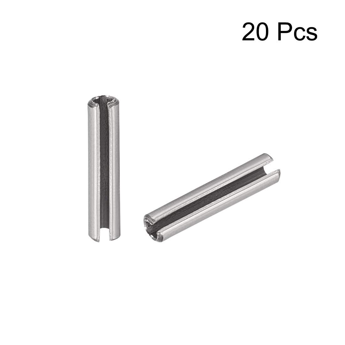 M1.5 x 6 mm 304 Stainless Steel Split Spring pin Pins Plain pin 20 Pieces Slotted Spring pin