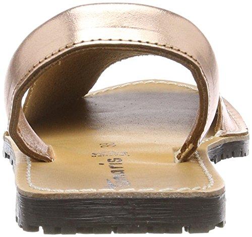 Tamaris Damen 28916 Slingback Sandalen Pink (Rose Metallic)