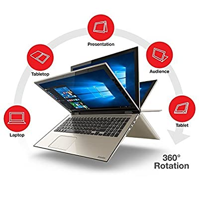 "2016 Toshiba Satellite Fusion L55W 15.6"" Full HD 2-in-1 Touchscreen Convertible Laptop, Intel Core i7-6500U Processor, 8GB RAM, 256GB SSD, Backlit Keyboard, Webcam, WIFI, Windows 10"