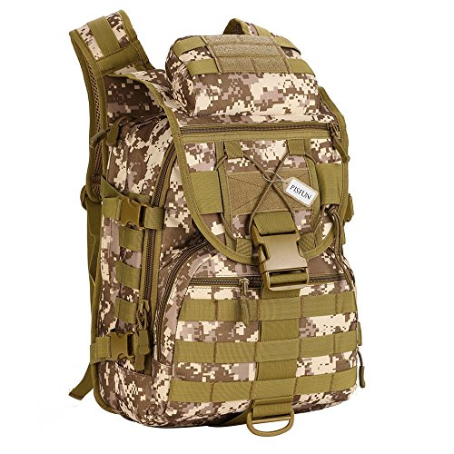 Pisfun Tactical Backpack 40L Camping Bags Waterproof Molle System Backpack Military 3P Tad Assault Travel Bag for Men Cordura