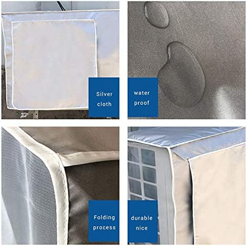 Hihey air conditioner cover dust cover waterproof sunscreen cover for outdoor use air conditioning