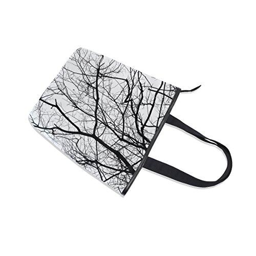 MyDaily Shoulder MyDaily Branch Handbag Canvas Tote Bag Tree Tote Womens H5wWA6PqA