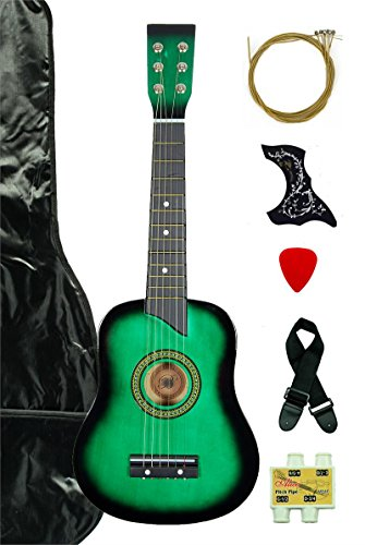 Directly Cheap 6 String Acoustic Guitar Pack, Right, Green, Children, Women, adults (000-BT-GA2511R-GR)