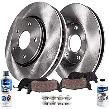 Detroit Axle - Pair (2) Front 300mm Disc Brake Rotors w/Ceramic Pads for 2013-2017 Ford Escape - [2013-2016 C-Max] - 2007-2012 Volvo C30 - [2006-2012 C70] ...