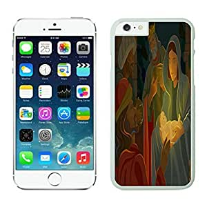 The Christmas Tree On Christmas Day Lovely Mobile Phone Protection Shell for iphone 6 Case-Unique Soft Edge Case(2015),Jesus christmas iPhone 6 Case 1 White