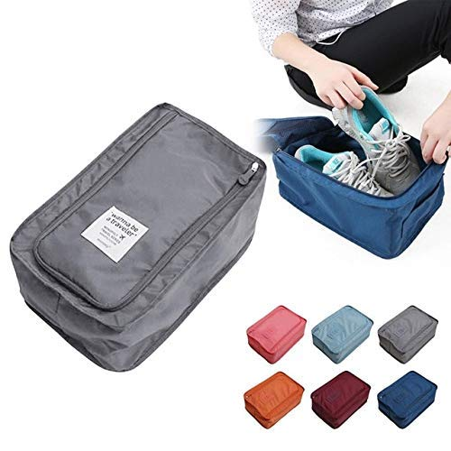 Travel Bag Storage Traveling Storage Bags Convenient Travel Storage Bag Nylon 6 Colors Portable Organizer Bags Shoe Sorting Pouch Multifunction Pink Travel Bag Pouch by Vuantu