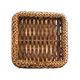 Michel Design Works Luncheon Napkin Holder, Braided Rattan