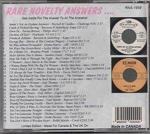 RARE NOVELTY ANSWERS